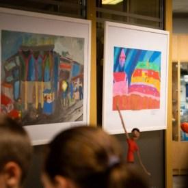 Детская художественная школа выставила свои работы