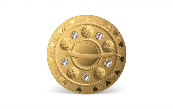 Банк Латвии выпустит монету «Золотые сакты. Пузырчатая сакта»