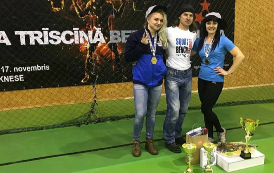 Даугавпилчанки отличились в Чемпионате Латвии по классическому троеборью
