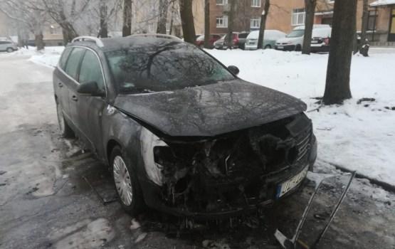 Дело о мусоросжигателе: ночью сожгли машину общественника (ВИДЕО)