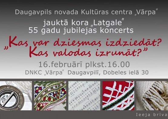 """Jauktā kora """"Latgale"""" 55 gadu jubilejas koncerts"""