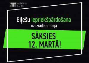 No 12. marta sāksies iepriekšpārdošana uz Daugavpils teātra izrādēm maijā!