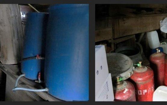 В Лауцесской волости полиция обнаружила самогонный завод