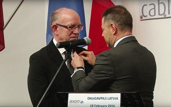 """Исполнительный директор предприятия Axon Câble получил орден """"За заслуги"""""""