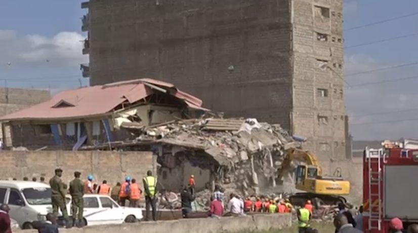 В Кении рухнул семиэтажный дом