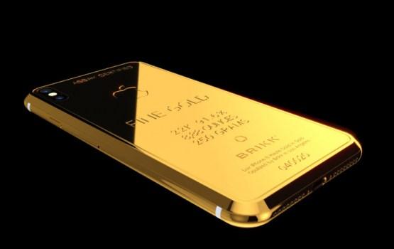 Создан iPhone X из золота