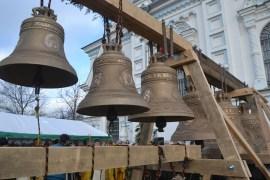 В Борисоглебском соборе установлены новые колокола