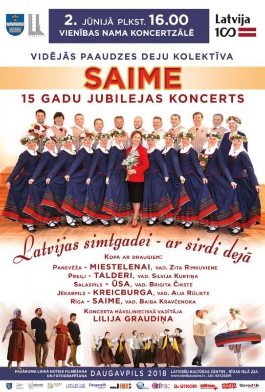 Сердечные танцы в честь столетия Латвии