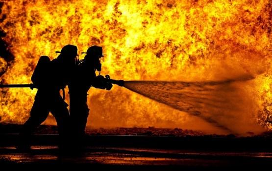 В Ругелях сгорел легковой автомобиль