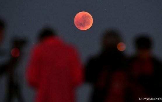 """Над Землей взошла """"кровавая Луна"""": земляне очарованы"""