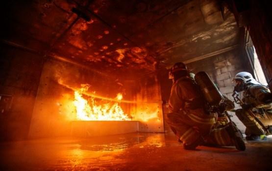 Пожарные спасли трех человек из горящей квартиры