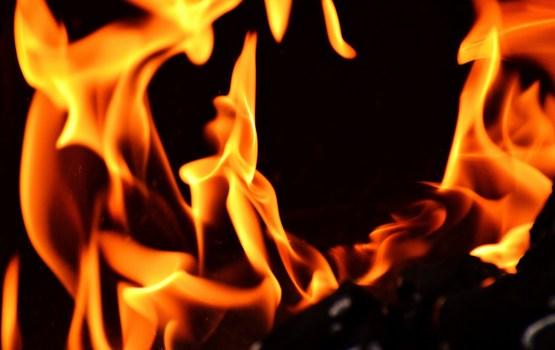 В пожаре пострадал один человек