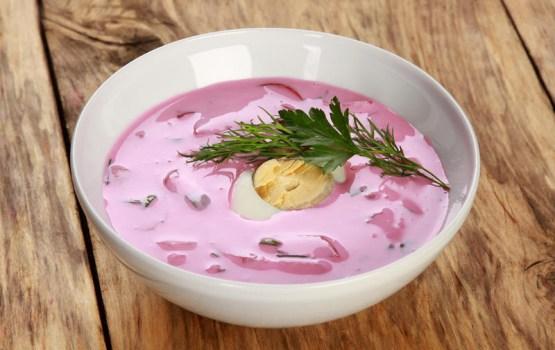 Необычный холодный суп за пять минут