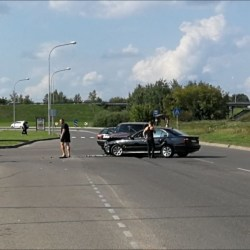 Фотофакт. Авария на улице Стацияс