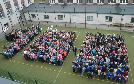 «Латвии – 100»: школа Centra присоединилась к флешмобу