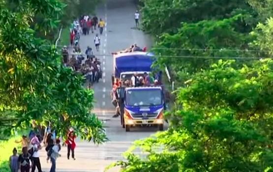 Новый «караван мигрантов» отправился из Сальвадора в США