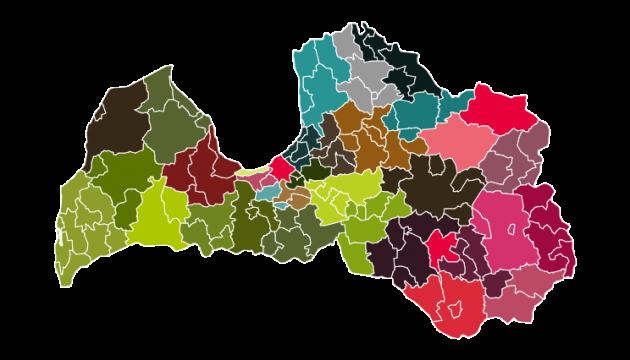 На новой карте Латвии будет 35 самоуправлений
