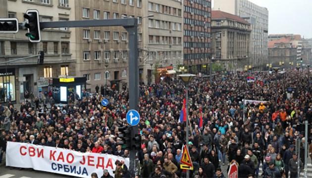 Протестующие в Белграде потребовали отставки президента Сербии Вучича