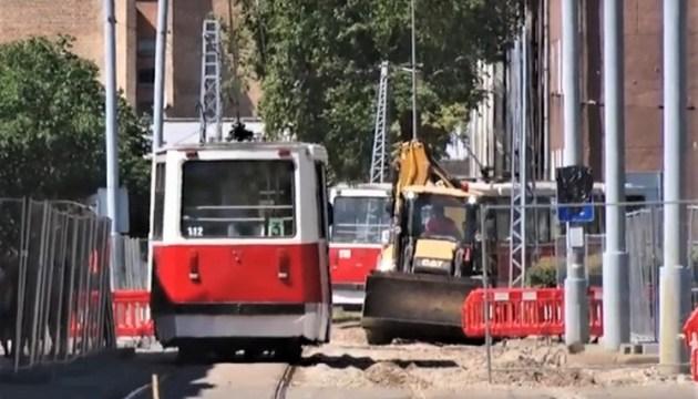 Реконструкция трамвайных путей в Даугавпилсе продолжается