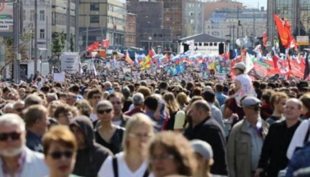 Правозащитники: 1000 задержанных во время акции в Москве