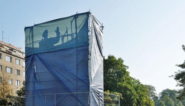 В Праге на месте памятника Коневу установили унитаз