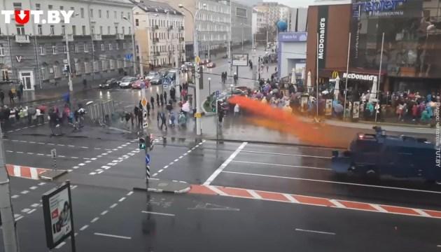 В Минске начались столкновения протестующих с милицией