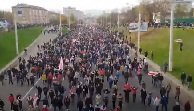 В Минске начали разгонять «Партизанский марш» противников Лукашенко