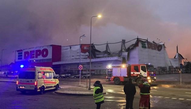 Пожар в магазине Depo в Резекне локализован