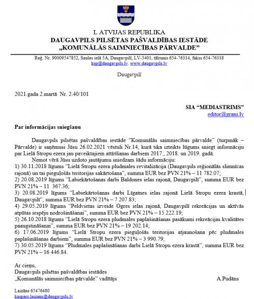 Стропское озеро «подорожало» почти на 290 тысяч евро