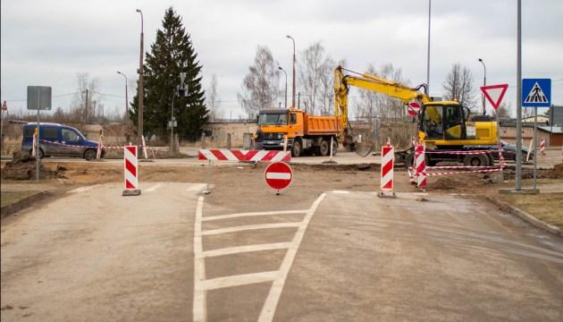 Реконструкция на улице Циетокшня: частично перекрыто несколько перекрестков