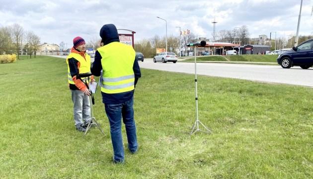 Фотофакт: замеряют шум перед началом строительства второй очереди путепровода