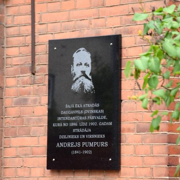 В Даугавпилсе открыта памятная мемориальная доска Андрею Пумпуру
